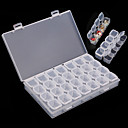 cheap Nail Salon-28 grid clear plastic nail art storage box case tool