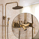 cheap Kitchen Faucets-Shower Faucet - Antique / Country / Modern Antique Copper Centerset Ceramic Valve / Brass / Single Handle One Hole