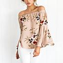preiswerte Radtrikots-Damen Blumen - Anspruchsvoll Ausgehen Baumwolle Bluse, Bateau Druck / Sexy