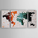 cheap Prints-Hand-Painted  Abstract Set of 3 Canvas Oil Painting With Stretcher For Home Decoration Ready to Hang