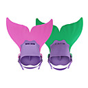 cheap Diving Masks, Snorkels & Fins-Diving Fins / Swim Fins Mermaid, Adjustable Fit, Short Blade Swimming, Diving, Snorkeling TPR, PP - for Kids Fuchsia / Green / Light Blue