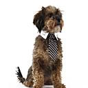 baratos Artigos para Tosa para Cães-Gato Cachorro Súeters Natal Gravata/Gravata Borboleta Roupas para Cães Riscas Vermelho Azul Listra Tecido Ocasiões Especiais Para animais