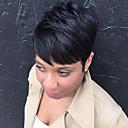 preiswerte Synthetische Perücken ohne Kappe-Menschliches Haar Capless Perücken Echthaar Glatt Pixie-Schnitt Mit Pony Seitenteil Kurz Maschinell gefertigt Perücke Damen