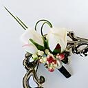 baratos Bouquets de Noiva-Bouquets de Noiva Buquês Alfinetes de Lapela Outros Flor Artificial Casamento Festa / Noite Material Miçangas Renda Poliéster Cetim 0-20cm