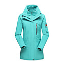 cheap Softshell, Fleece & Hiking Jackets-LEIBINDI Women's Hiking 3-in-1 Jackets outdoor Spring Fall Winter Windproof Waterproof Breathable Thermal / Warm Dust Proof Polyester 3-in-1 Jacket Winter Jacket Top Double Sliders Skiing Camping