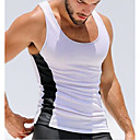 cheap Running Shirts, Pants & Shorts-Men's Sports Active Slim Tank Top - Color Block Black & White, Patchwork / Sleeveless