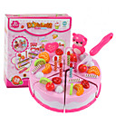זול מטבחי צעצוע ואוכל צעצוע-ערכות מטבח צעצוע / מאכלי צעצוע / משחקי דמויות חותכנים לעוגות ועוגיות / קינוח / Cake סימולציה PVC בנים בגדי ריקוד ילדים מתנות