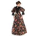 cheap Historical & Vintage Costumes-Victorian The Marvelous Mrs. Maisel Dress Cosplay Costume Party Dress Women's Floral Victorian Wasp-Waisted Christmas Halloween Carnival Festival / Holiday Lace Organza Carnival Costumes Floral