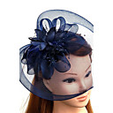 cheap Party Headpieces-Tulle / Feather / Net Fascinators / Hats / Headwear with Floral 1pc Wedding / Special Occasion Headpiece
