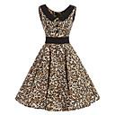baratos Anéis-Mulheres Vintage Algodão Calças - Leopardo Marron