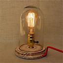 baratos Luminárias de Mesa-Rústico/Campestre Proteção para os Olhos LED Luminária de Escrivaninha Para Madeira/Bambu 220-240V