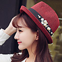 cheap Party Headpieces-Women's Vintage Straw Hat - Patchwork