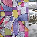 preiswerte Fensterfolie & Aufkleber-Geometrisch Retro Fenster-Aufkleber, PVC/Vinyl Stoff Fensterdekoration Esszimmer Schlafzimmer Büro Kinderzimmer Wohnzimmer Badezimmer