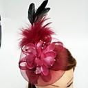 baratos Acessórios de Cabelo-Tule / Pena / Rede Fascinadores / Chapéus / Decoração de Cabelo com Floral 1pç Casamento / Ocasião Especial Capacete
