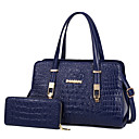 cheap Bag Sets-Women's Bags PU(Polyurethane) Bag Set 2 Pieces Purse Set Solid Colored Blue / Black / Red