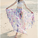 cheap Necklaces-Women's Holiday / Beach Swing Skirts - Floral Print