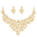 cheap Jewelry Sets-Women's Jewelry Set - Rhinestone, Gold Plated Flower Classic, Fashion Include Gold For Wedding / Party / Special Occasion