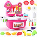 baratos Acessórios de Cozinha & Comida de Brinquedo-Conjuntos Toy Cozinha Pratos Toy & Tea Sets Comida de Brinquedo PVC Crianças Para Meninos Para Meninas Brinquedos Dom