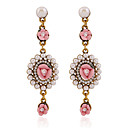 cheap Earrings-Women's Crystal Drop Earrings - Crystal Flower Hot Pink / Green / Blue For Party / Daily / Casual