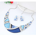 cheap Jewelry Sets-Women's Geometric Jewelry Set - Fashion, Euramerican Include Rainbow / Green / Blue For Party / Daily