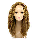 cheap Synthetic Lace Wigs-Synthetic Lace Front Wig Kinky Curly Blonde Synthetic Hair African American Wig Blonde Wig Women's Medium Length Lace Front