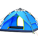 cheap Tents, Canopies & Shelters-3-4 persons Tent Double Camping Tent One Room Automatic Tent Windproof Ultraviolet Resistant Rain-Proof for Hiking Camping Fiberglass CM