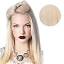 abordables Extensiones de Cabello con Clip-9pcs / set 120g # 60 platium rubio ceniza clip de rubia de lujo en extensiones de cabello 16inch 20inch 100% del pelo humano recta