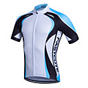 cheap Cycling Jerseys-Fastcute Men's Short Sleeve Cycling Jersey - Green Blue Bike Jersey Top Breathable Quick Dry Sweat-wicking Sports Coolmax® Mountain Bike MTB Road Bike Cycling Clothing Apparel / Stretchy