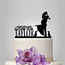 cheap Wedding Decorations-Cake Topper Garden Theme / Classic Theme Classic Couple Acrylic Wedding / Anniversary / Bridal Shower with 1 pcs OPP
