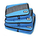 cheap Prints-3 Pieces Travel Bag Travel Luggage Organizer / Packing Organizer Portable Foldable Durable Large Capacity Travel Storage Luggage Accessory