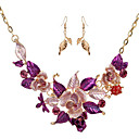 cheap Jewelry Sets-Women's Jewelry Set - Flower Include Vintage Necklace Purple / Blue For Wedding / Party / Special Occasion