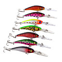 cheap Fishing Lures & Flies-7 pcs Hard Bait / Minnow / Fishing Lures Hard Bait / Minnow Hard Plastic Sea Fishing / Fly Fishing / Bait Casting / Spinning / Jigging Fishing / Freshwater Fishing / Carp Fishing / Bass Fishing