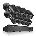 baratos Kit DVR-annke® 8ch 8 pcs 720 p câmera de vídeo hd 4em1 dvr ip rede de vigilância em casa sistema de segurança de cctv com 1080 p hdmi à prova d 'água ir vison noite