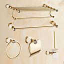 baratos Conjunto de acessórios de casa de banho-Jogo de Acessórios para Banheiro Moderna Latão 5pçs - Banho do hotel Suportes de Papel Higiénico / barra da torre / anel de torre