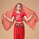 baratos Roupas de Dança do Ventre-Dança do Ventre Véu Mulheres Espetáculo Tule Decoração de Cabelo / Véu