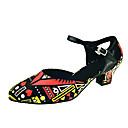 baratos Sapatos de Dança Latina-Mulheres Sapatos de Dança Moderna Courino Sandália / Salto Presilha / Recortes Salto Personalizado Personalizável Sapatos de Dança Preto