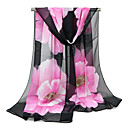 cheap Birthday Home Decorations-Women's Holiday Chiffon Rectangle Scarf - Floral Mesh / Fabric