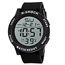 cheap Sport Watches-Men's Digital Digital Watch Sport Watch Chinese Hot Sale Silicone Band Charm Black