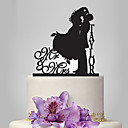 cheap Cake Toppers-Cake Topper Garden Theme / Classic Theme Classic Couple Acrylic Wedding / Anniversary / Bridal Shower with 1 pcs OPP