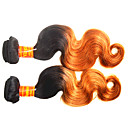 cheap One Pack Hair-Malaysian Hair Body Wave Remy Human Hair Ombre Hair Weaves / Hair Bulk Ombre Human Hair Weaves Human Hair Extensions