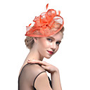 cheap Party Headpieces-Tulle / Feather Kentucky Derby Hat / Fascinators / Headwear with Floral 1pc Wedding / Special Occasion Headpiece