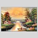baratos Pinturas Paisagens-Pintura a Óleo Pintados à mão - Paisagem Clássico Modern Tela de pintura