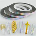 baratos Adesivos de Unhas-30pcs/set Etiquetas e Fitas / Fita / Etiqueta da folha Com Gliter / Acessório da ferramenta DIY Art DIY Nail Art Design