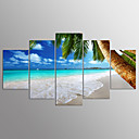 cheap Stretched Canvas Prints-Stretched Canvas Print Landscape Modern, Five Panels Canvas Any Shape Print Wall Decor Home Decoration
