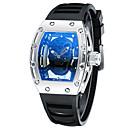 abordables Relojes de Correa de Cuero-Hombre Reloj de Pulsera Suizo Cool Piel / Silicona Banda Negro / Blanco / Azul / Sony S626 / Dos año