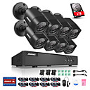 cheap Fishing Tools-ANNKE® 8CH HDMI DVR 8PCS 720P HD Outdoor Indoor Waterproof Camera Surveillance Security System with Clear Night Vison Smart Remote Monitor 1TB