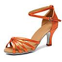 abordables Zapatos de Baile Latino-Mujer Fibra de Carbono Zapatos de Baile Latino Tacones Alto Tacón Personalizado Personalizables Café / Rojo / Azul / Rendimiento