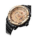 baratos Luminárias de Teto-NAVIFORCE Homens Relógio Esportivo / Relógio de Pulso Calendário / Legal Aço Inoxidável Banda Luxo / Casual / Fashion Preta