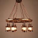 cheap Chandeliers-8-Light Industrial Pendant Light Downlight - Mini Style, 110-120V / 220-240V Bulb Not Included / 30-40㎡ / E26 / E27