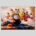 billige Stillebenmalerier-Hang malte oljemaleri Håndmalte - Still Life Klassisk Moderne Lerret